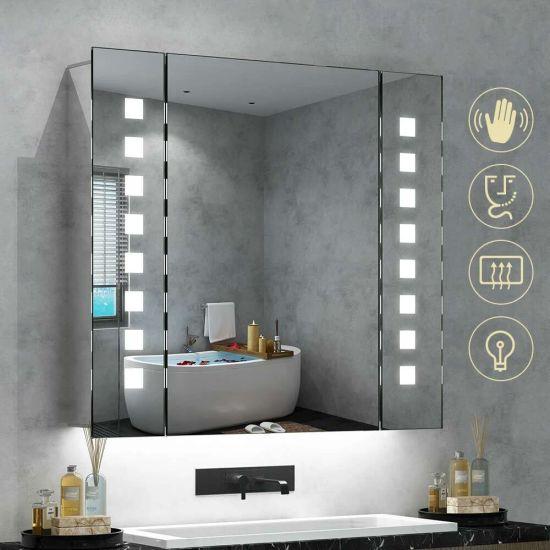 China Jinghu Dimmable Semi-Recessed Illuminated LED Bathroom .