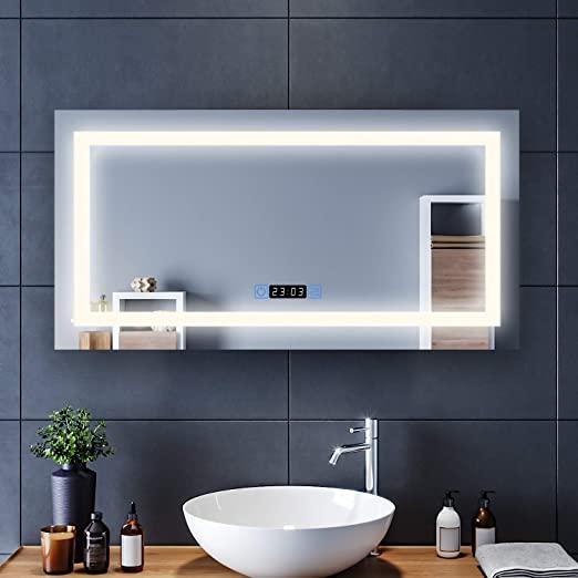 Amazon.com: Elegant Frameless Makeup Bathroom Mirror, 48 in. W x .