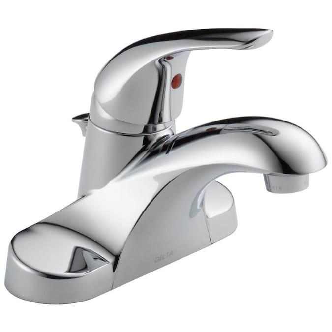 Delta Foundations Chrome 1-handle 4-in Centerset WaterSense .