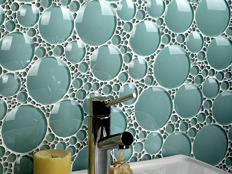 Bathroom Glass Tile Ideas - glass tile backsplash by Ev