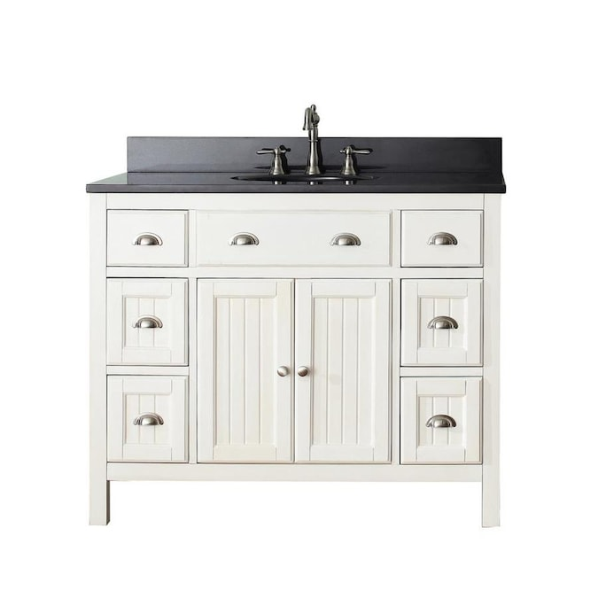 Avanity Hamilton 43-in French White Single Sink Bathroom Vanity .