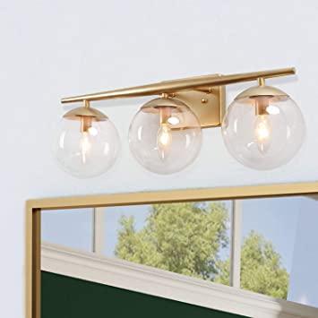 KSANA Gold Bathroom Light Fixtures, Modern Bathroom Lights Over .