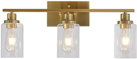 3 Lights MELUCEE Sconces Wall Lighting Brass Contemporary Bathroom .