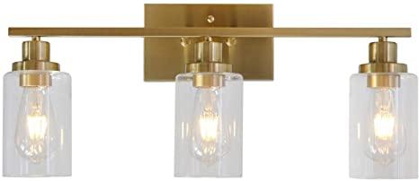 3 Lights MELUCEE Sconces Wall Lighting Brass Contemporary Bathroom .