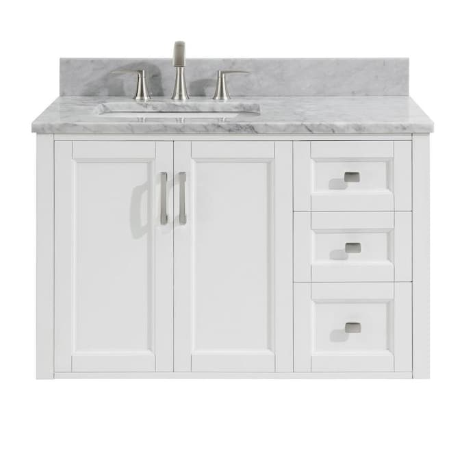 allen + roth Floating 36-in White Single Sink Bathroom Vanity with .
