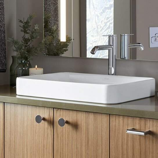 K-5373-0 Kohler Vox Vitreous China Rectangular Vessel Bathroom .