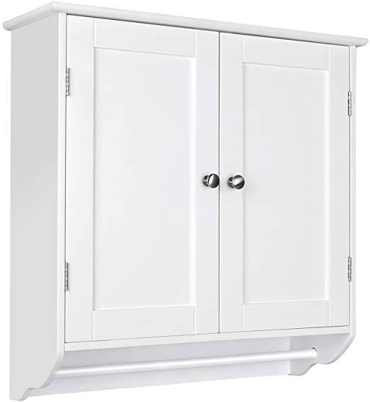 Amazon.com: Homfa Bathroom Wall Cabinet, Over The Toilet Space .
