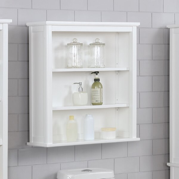 "Highland Dunes Carruthers 27""W x 29""H Wall Mounted Bath Storage ."