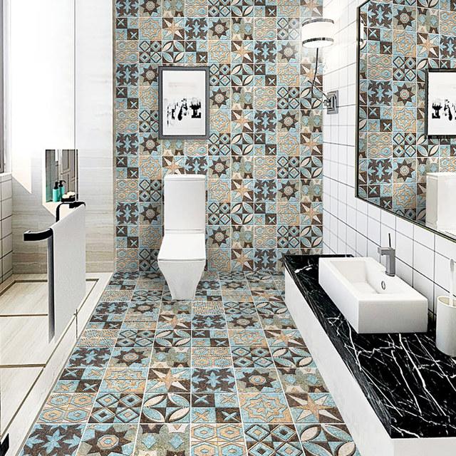Stickers decorative ceramic tile bathroom floor tiles wear .