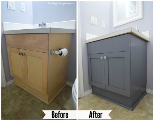 How To Paint Your Bathroom Vanity (The Easy Way!) | Painted vanity .