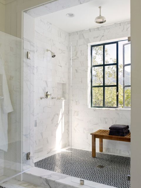 Pin by Cindy Foltyn on Master Bath | Window in shower, Modern .