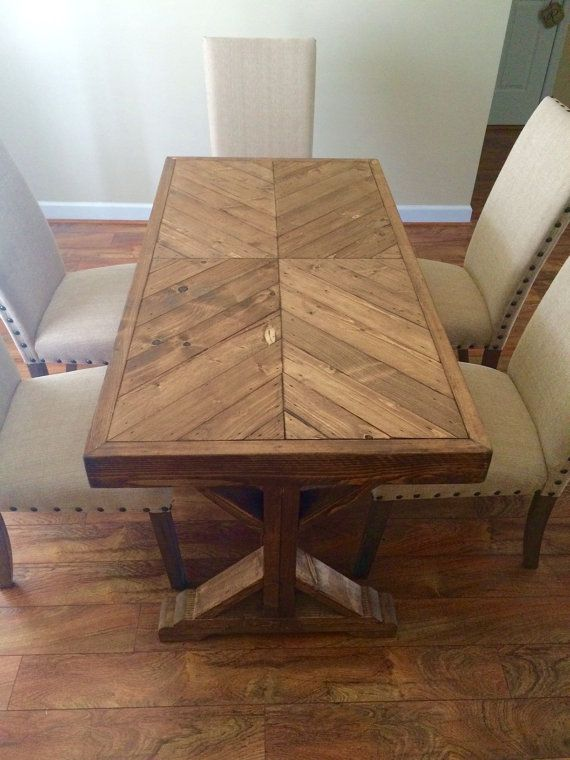 Handmade 100% wood farm house table that can be used as a small .