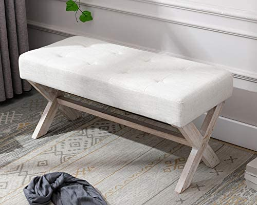 Amazon.com: chairus Fabric Upholstered Entryway Bench Seat, 36 .