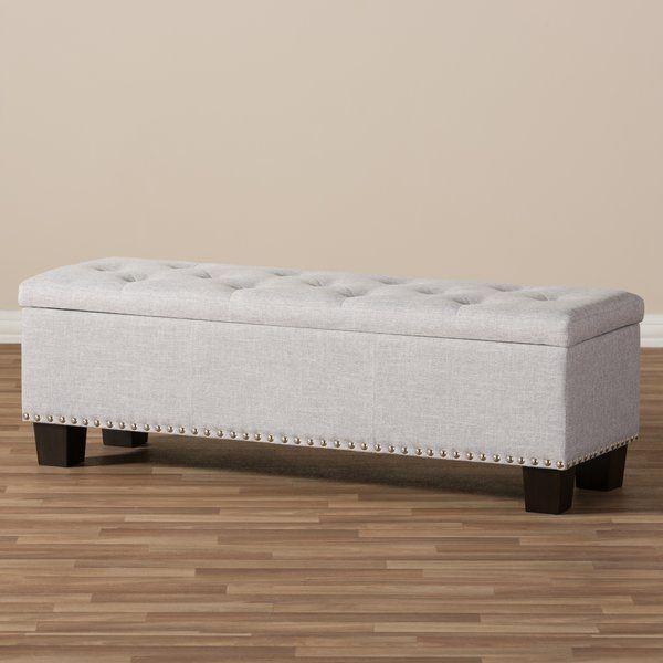 Back Bay Upholstered Storage Bench | Upholstered storage bench .