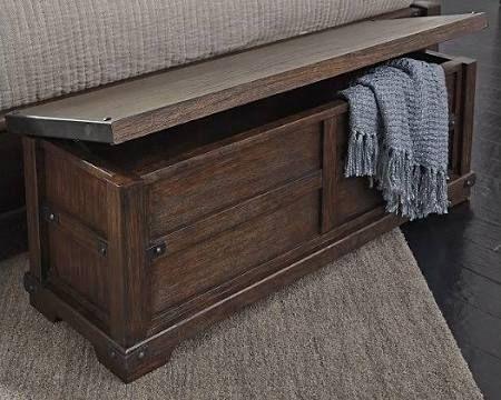 Zenfield Bedroom Bench by Ashley HomeStore, Brown | Bedroom bench .