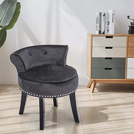 Amazon.com: Velvet Makeup Vanity Stool Chair Bench for Bedroom .