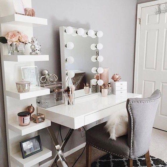 Some pretty vanity inspo via Pinterest #houseofpretty | Room .