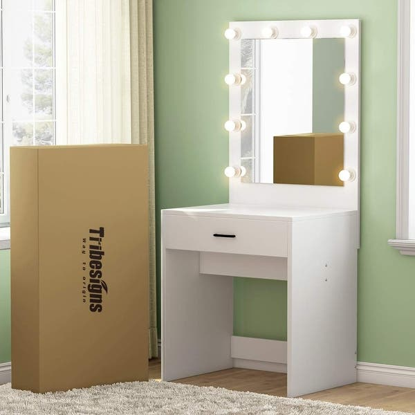 Shop Makeup Vanity with Lighted Mirror, Dressing Table, Dresser .