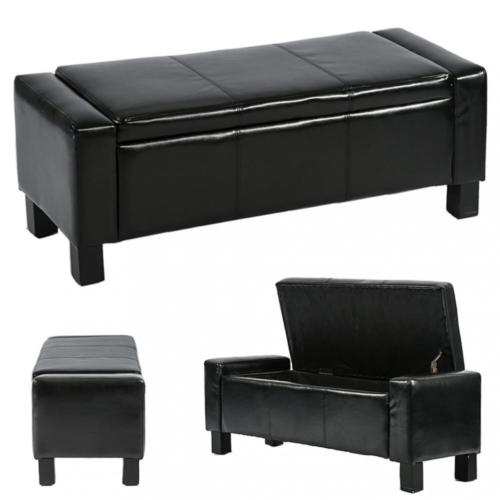 Ottoman Storage Ottoman Bench Bedroom Bench with Faux Leather .