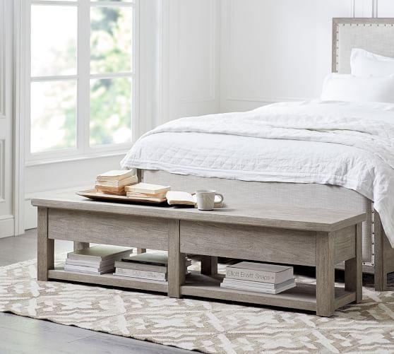Farmhouse Storage Bench | Bedroom Bench | Pottery Ba