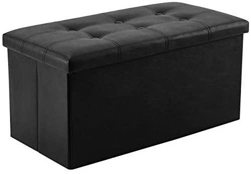 Amazon.com: YOUDENOVA 30 inches Folding Storage Ottoman, 80L .