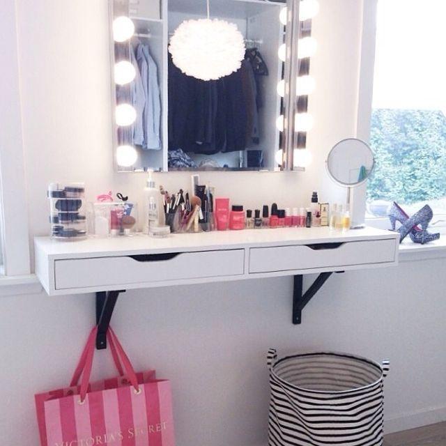 VANITY TABLE! | Vanity shelves, Beauty room vanity, Girls room dec