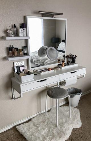 My battle station! : MakeupAddiction #Makeup #Vanity #IKEA | Small .