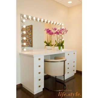 50+ Best Makeup Vanity Table With Lights - Ideas on Fot