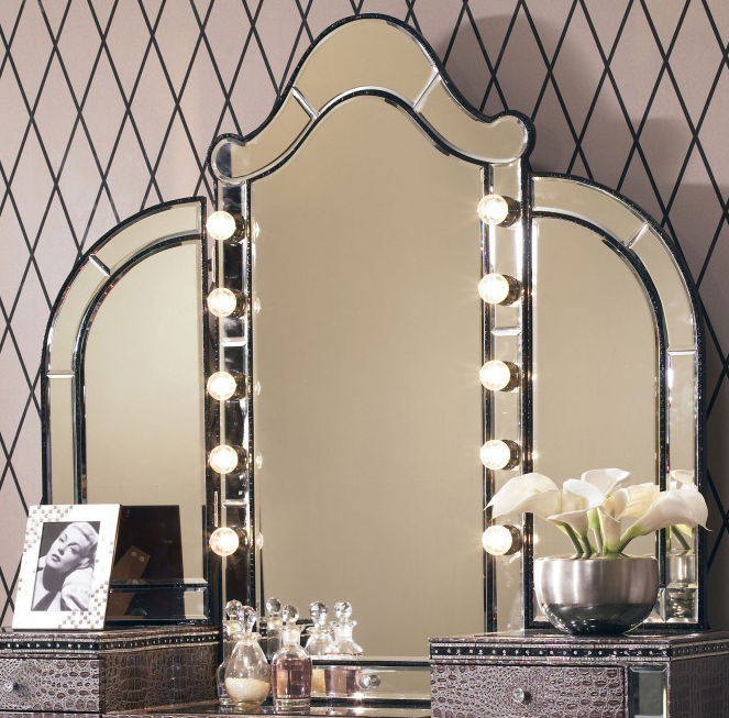 Makeup Vanity Table With Lights Photo | Belezaa Decorations from .