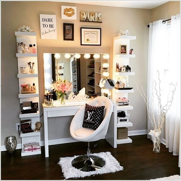 10 Cool DIY Makeup Vanity Table Ide