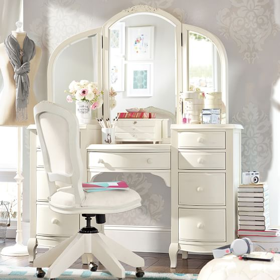 Lilac Vanity Desk | Pottery Barn Te