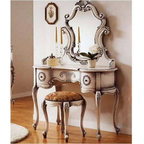 good bedroom vanity set bedroom: glamor white vanity set with .