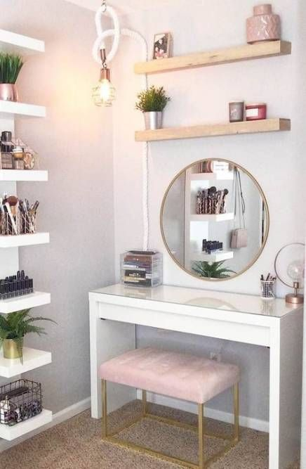 Makeup table ideas beauty room small spaces 58 Ideas | Dressing .
