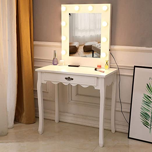 Amazon.com: LED Vanity Makeup Table,Makeup Dressing Table Vanity .