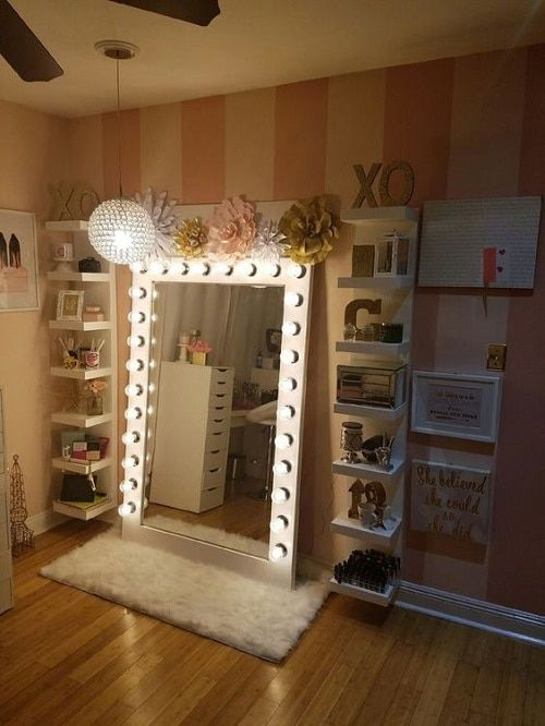 Fantastic and Incredible Vanity Mirror with Lights for Bedroom .