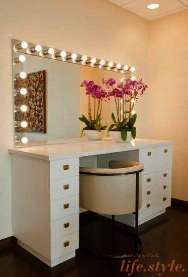 Makeup Vanity With Hollywood Lights lest Corner Makeup Vanity .