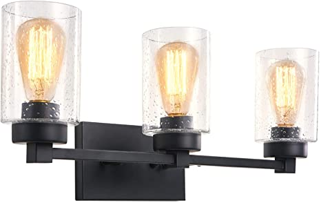 Amazon.com: Bathroom Sconces Wall Mount Light Lamp with Clear .