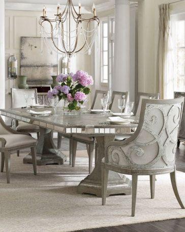 Modern Glam Decor & Glamorous Decorating Ideas | Dining room sets .