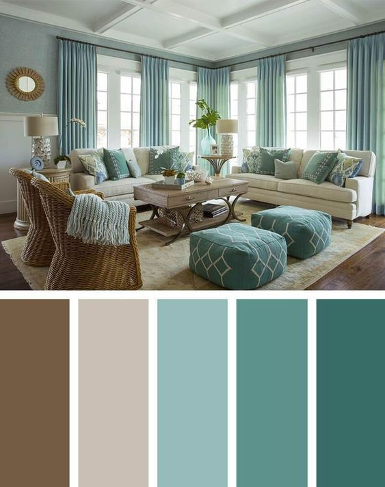 25+ Best Living Room Color Scheme Ideas and Inspiration | Brown .
