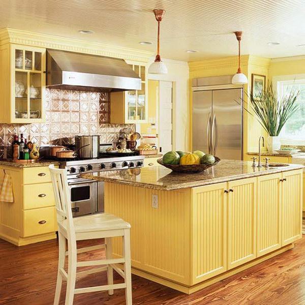 80+ Cool Kitchen Cabinet Paint Color Ide