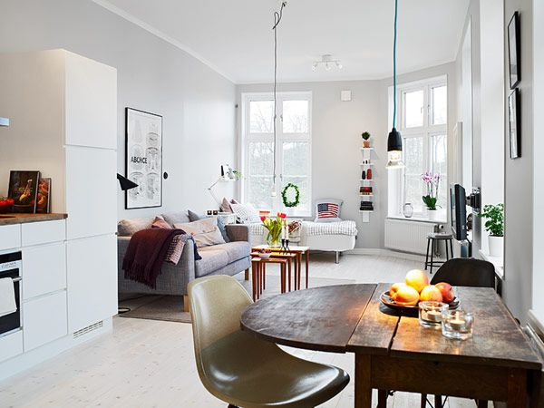 Small Apartment in Gothenburg Showcasing an Ingenious Layout .