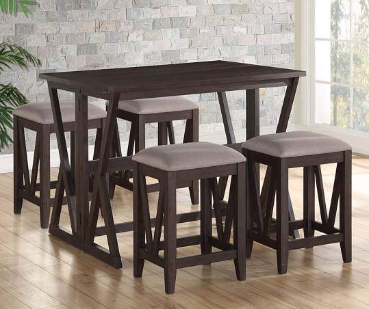 Espresso Brown Folding Dining Table - Big Lots | Folding dining .