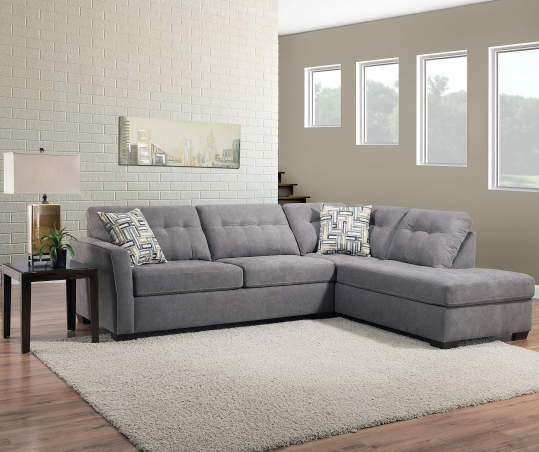 Lane Home Solutions Pasadena Gray Living Room Sectional | Big Lo