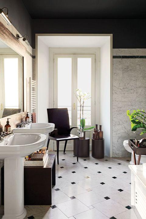 40+ Black & White Bathroom Design and Tile Ide