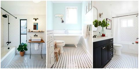 Classic Black and White Tiled Bathroom Floors are Making a Huge .