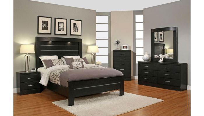 Modwell Black Modern Bedroom Furnitu