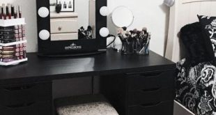 Black is not that bad after all! | Stylish bedroom, Makeup room .
