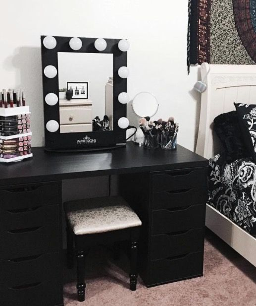 Black Bedroom Vanity