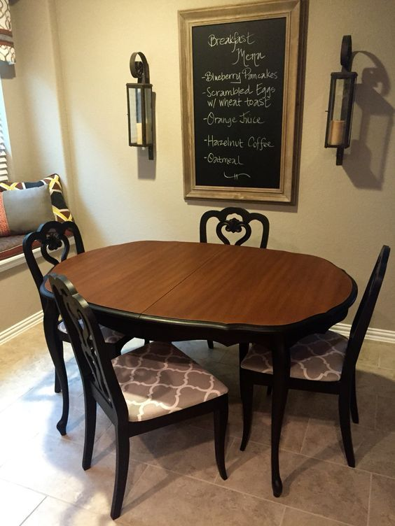 Dark Dining Room Modern Ideas | Dining room table makeover, Dining .