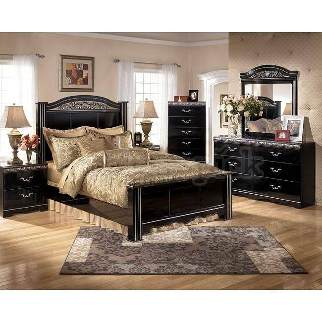 Ashley Constellations B104 King Size Panel Bedroom Set 5pcs in .